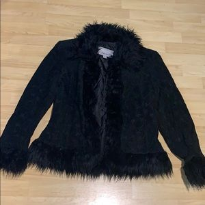 Furry Embroidered Jacket